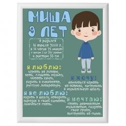 Постер на день рождения арт.005