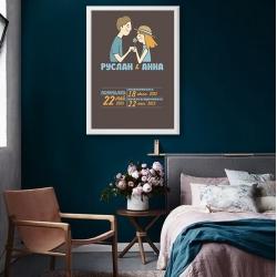Постер на годовщину свадьбы арт.0089