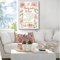 Постер на годовщину свадьбы арт.004