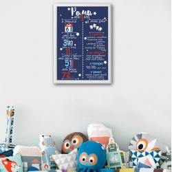 Постер на день рождения арт.001