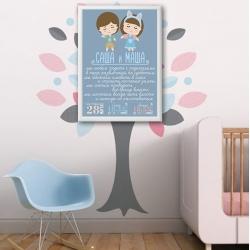 Постер на день рождения арт.009