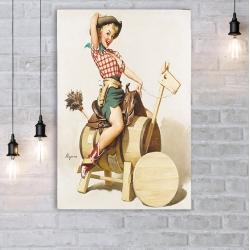 "Постер в стиле ""Пин-ап"" арт.0001"