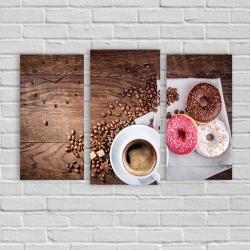 Кофе (модульная картина-часы)