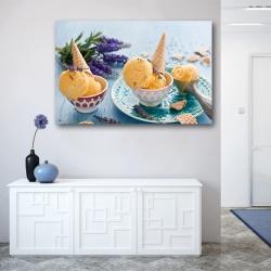 Манговое мороженое и цветы лаванды