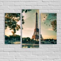 Париж (модульная картина-часы)