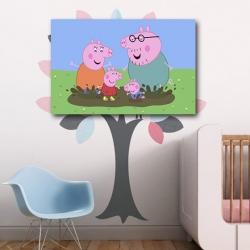 Свинка Пеппа и Джордж с родителями