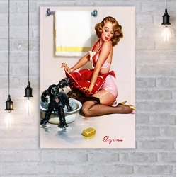 "Постер в стиле ""Пин-ап"" арт.0019"