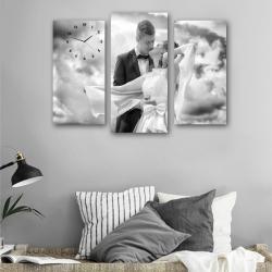 Свадебная фотография (модульная картина-часы)