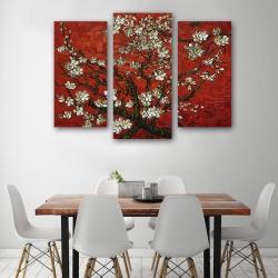 """Цветущие ветки миндаля (II версия)"" Винсент Ван Гог (модульная картина)"