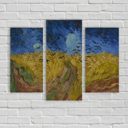 """""""Пшеничное поле с воронами"""" Винсент Ван Гог (модульная картина)"""