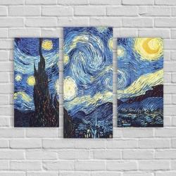 """""""Звездная ночь"""" Винсент Ван Гог (модульная картина)"""